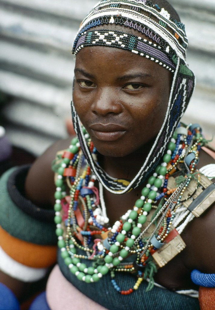 Ndebele South African  A Young Man From The Ndebele Tribe -8797