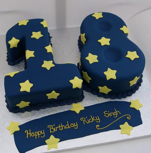 18th Birthday Cake  18 figure birthday cake made with vanil ...