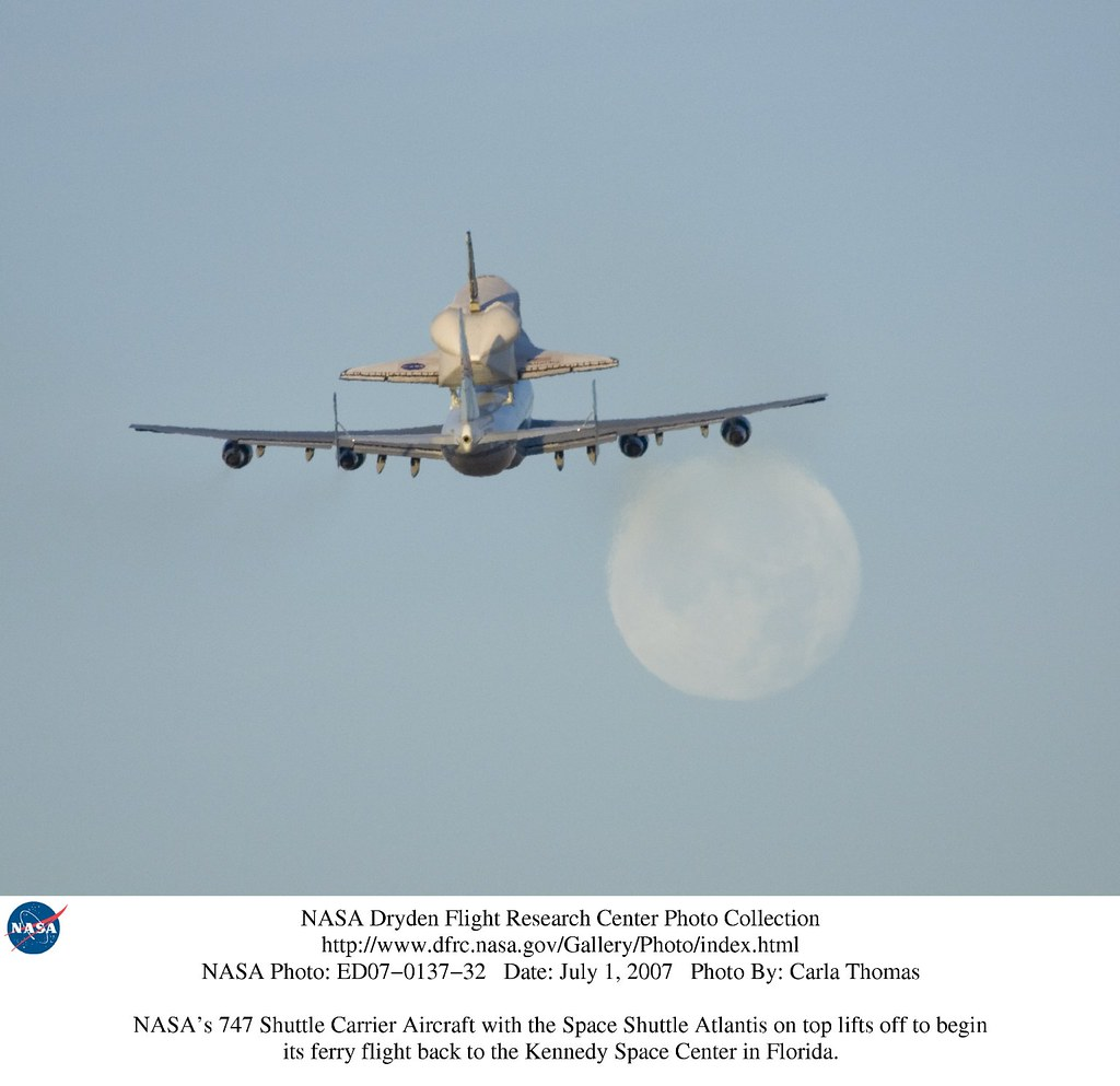 NASA's modified Boeing 747 Shuttle Carrier Aircraft with t ...