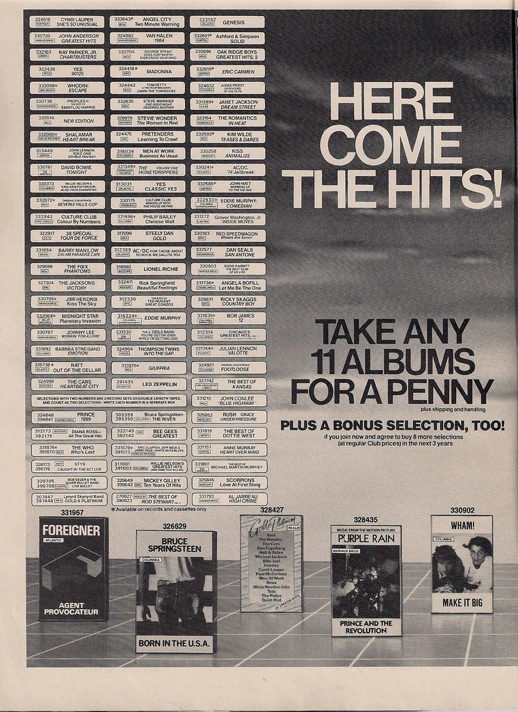 May 1985 columbia house music club ad 1 2 bryan flickr for House music club