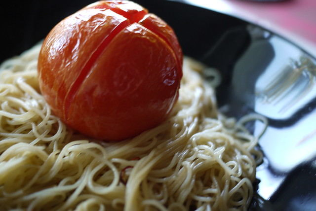 grilled tomato pasta - 03   daily photo 108-c: grilled ...