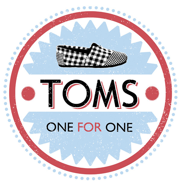 TOMS shoes T-shirt/logo design : I was doing these for a con ...