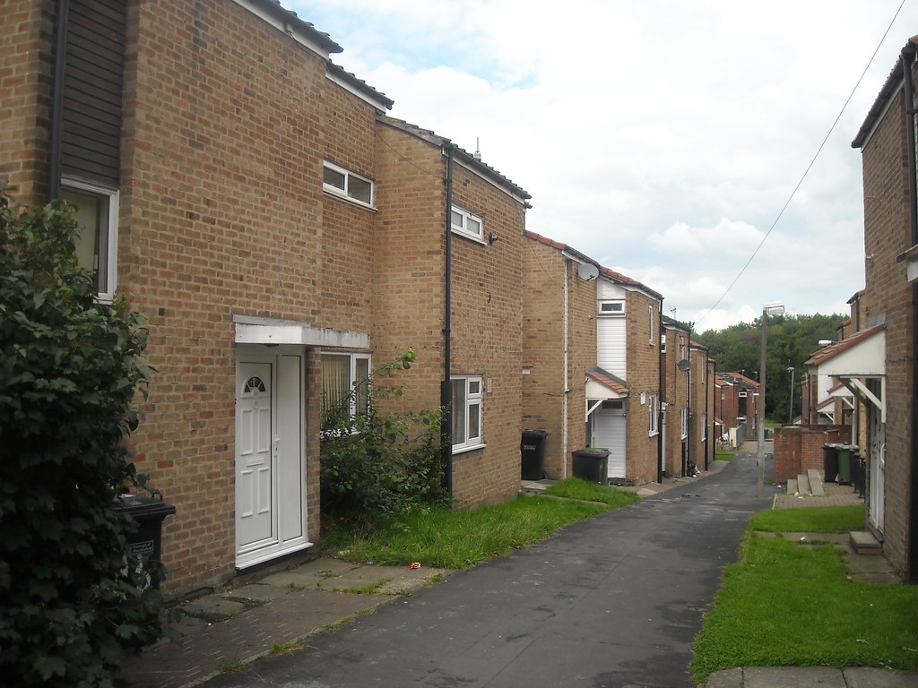 Row of council houses | Not taken in Bramhall but taken on