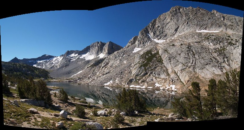Townsley Lake (elevation 10353 feet), with Parsons and Fletcher Peaks