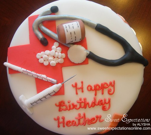 Cake Decorating Medical Theme : Medical Theme Cake Alysha Flickr