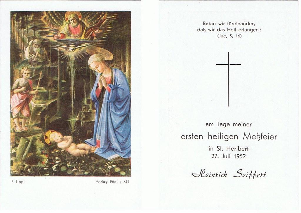 Priesterweihe Seiffert, Heinrich am 27.07.1952