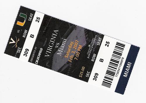 2007 Miami basketball ticket | grandpahoo | Flickr