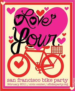 SF Bike Party #2 spokecard -- February 2011 | by meligrosa