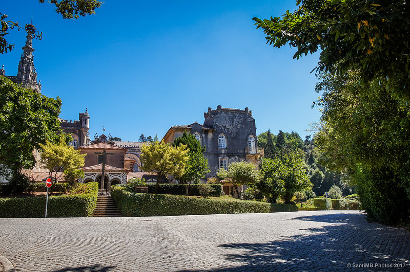 Frente al convento de Santa Cruz de Buçaco