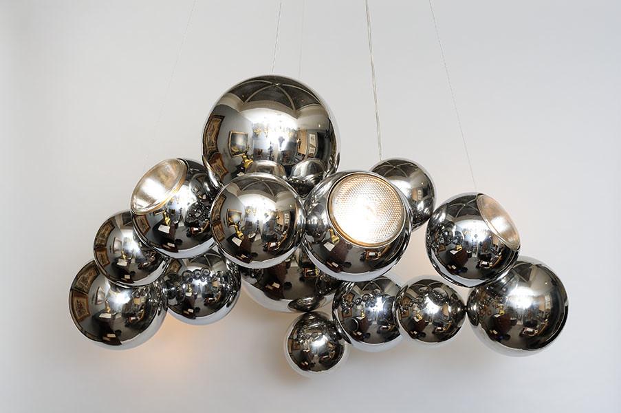 Lustre Billes Inox - Design | www.atelier-benoit-herouard.fr… | Flickr