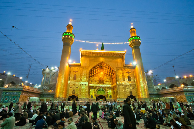 Maula Ali Shrine Wallpaper: Pilgrims Around The Shrine Of Imam Ali Bin Aby Taleb (A.S