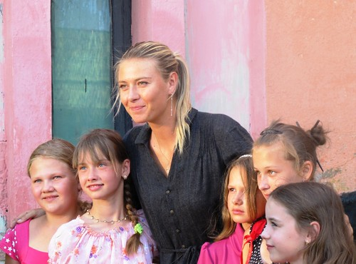 Tennis champion Maria Sharapova visiting children in Belaru3 | by United Nations Development Programme