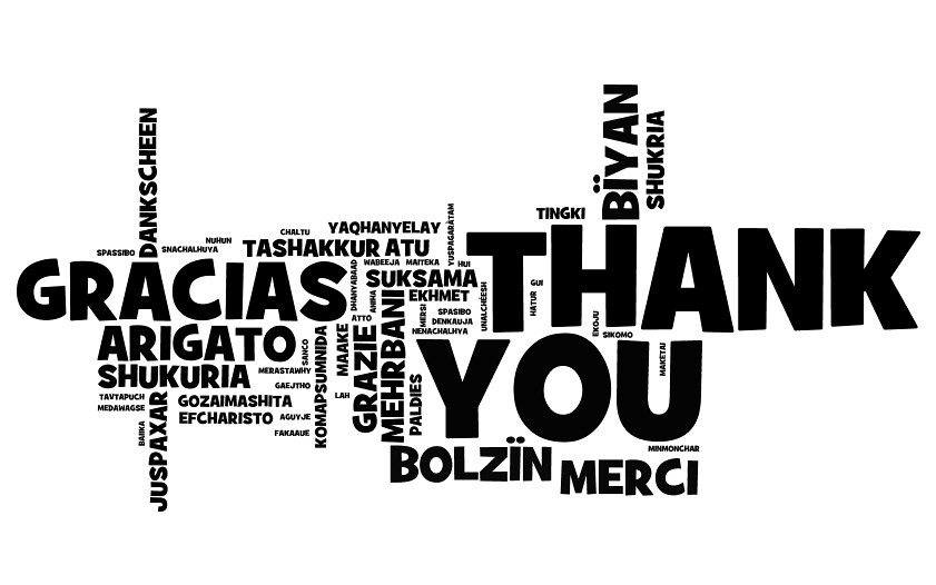 Thank You Note For Every Language Thank You Note Created