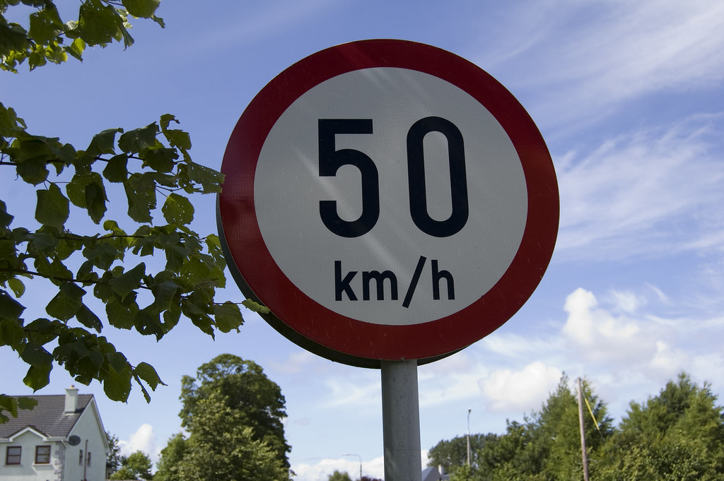 50 km h a 50 km h sign in co mayo ireland papanooms flickr. Black Bedroom Furniture Sets. Home Design Ideas