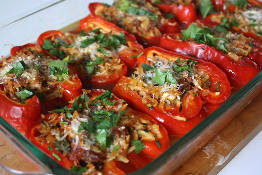 Stuffed Pepper With Spinach And Couscous Recipe America S Test Kitchen