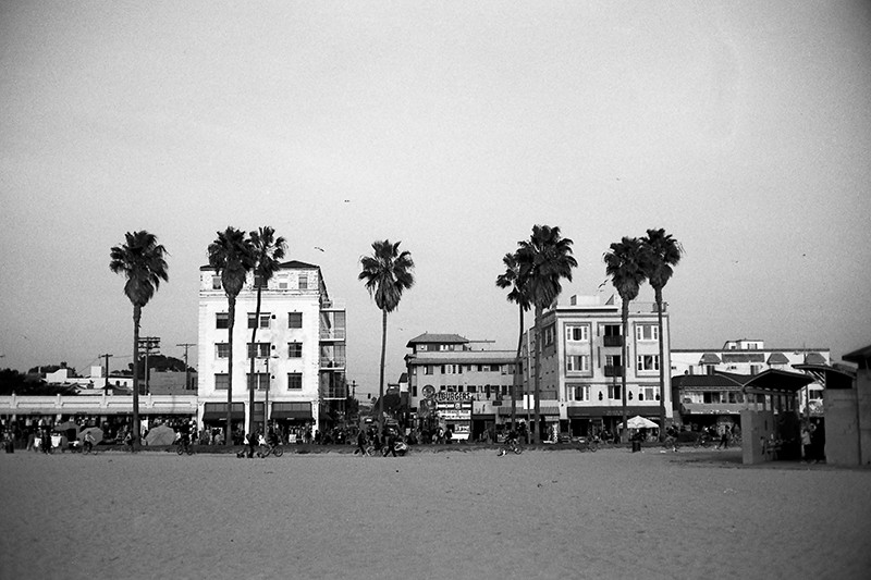 Boardwalk at venice beach by brian auer