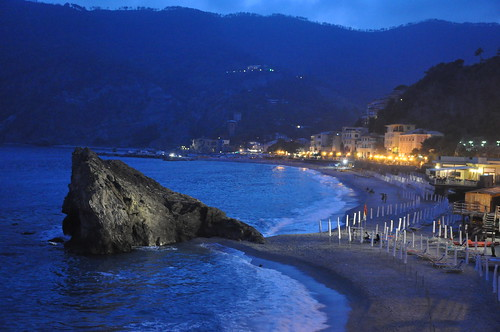 Monterosso Beach Cinque Terre at Night | by Food Lovers Odyssey