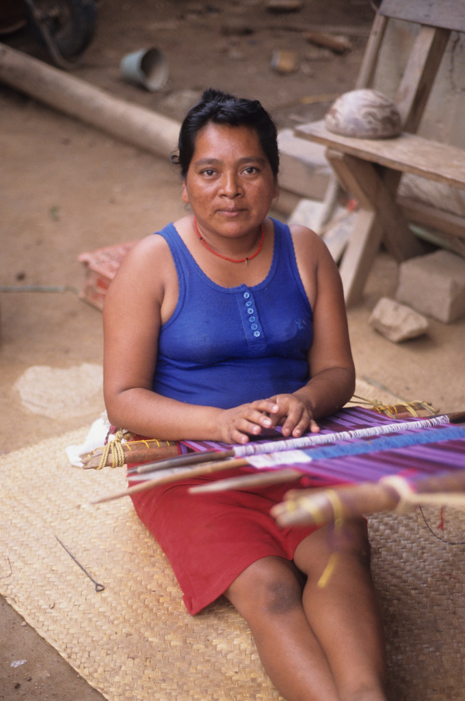 mixtec weaver oaxaca this woman from a mixtec community