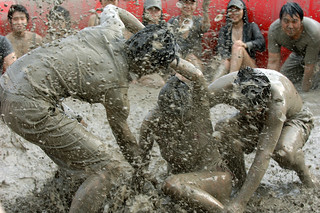BOSS gets down and dirty at Boryeong Mud Festival | by USAG Yongsan