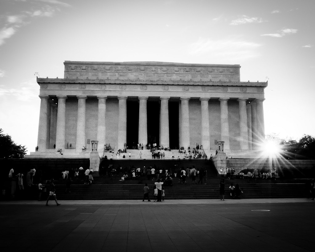 Lincoln Memorial A Black And White Hdr Photo Of The