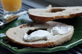 bagel and cream cheese | by David Lebovitz