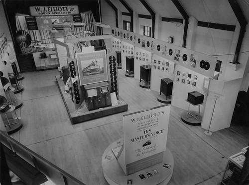 W.J. Elliot Ltd hmv Evolution Of the Graomphone display 1949