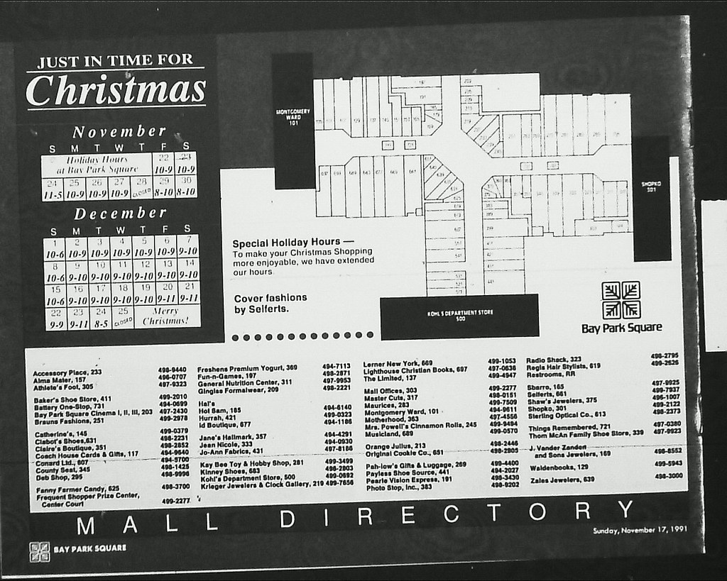 Bay Park Square Mall Map Bay Park Square   Christmas newspaper supplement   mall di… | Flickr Bay Park Square Mall Map