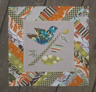 SNTM VQBee Block for Lisa - bird on branch | by twinfibers