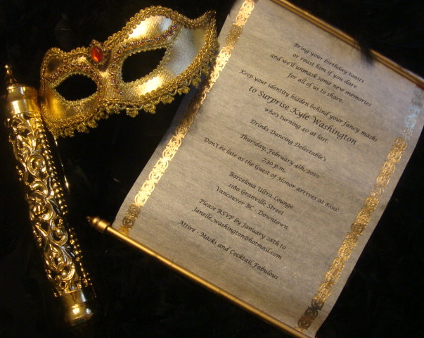 Scroll Invitations with Masquerade Mask | Jenny Moore | Flickr