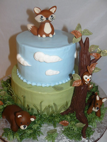 Cake Decoration Woodland Animals : Baby woodland animals Karen Hedge Flickr