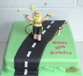 Marathon Runner 50th Birthday Cake Sweet Bakery Flickr