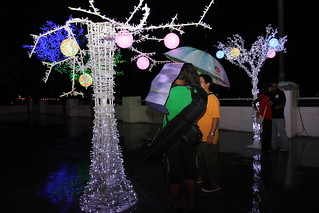 Me and Lesly drenched in rain at I-City | by edmundyeo