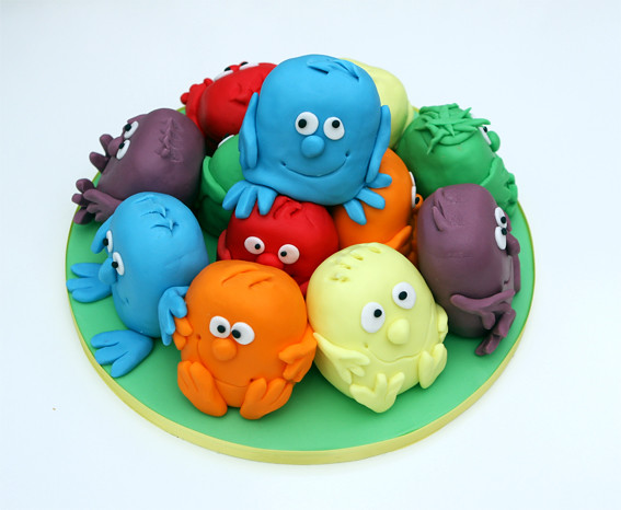 Mini Monsters Cake This was my daughters 8th birthday cake Flickr