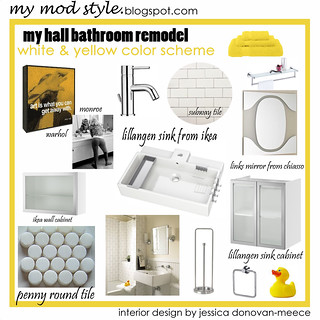 Design Board - Hall Bathroom / July 2009 | by Jessie {Creating Happy}