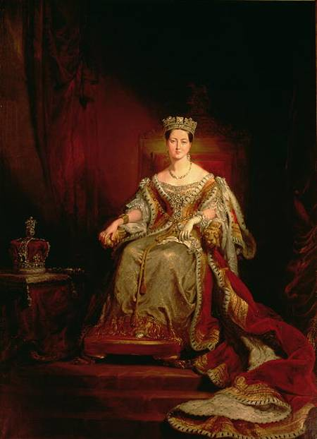Hayter George 1792 1871 1838 Queen Victoria Seated On