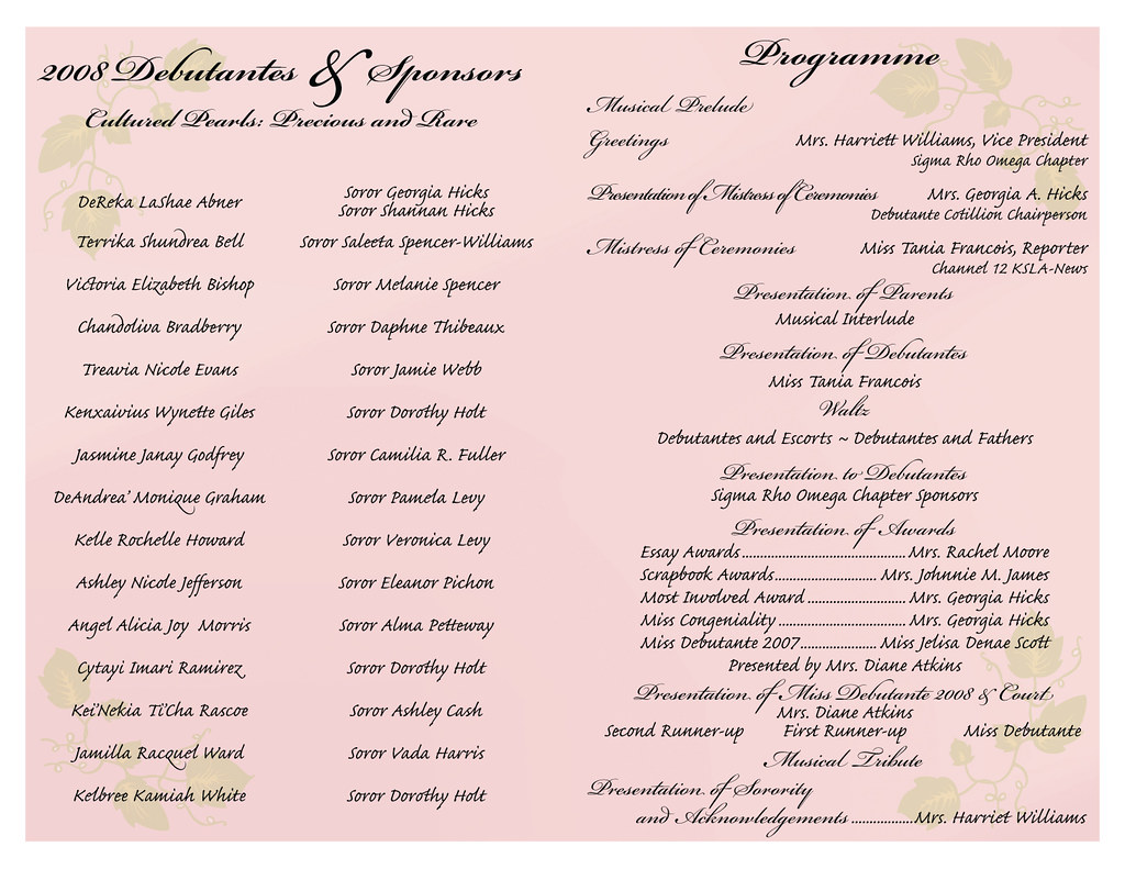 Debutante-program-pg2 | Raydra Hall | Flickr