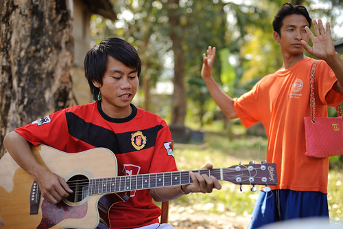 Lao Men Making Music & Dancing | by goingslowly