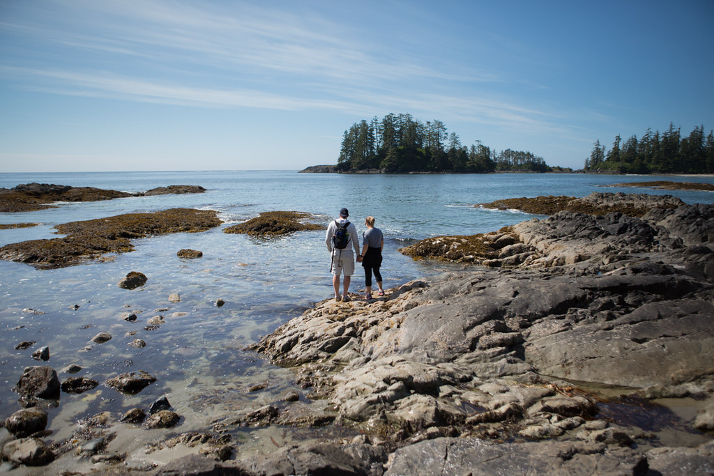 Husband and wife at Schooner Cove Trail