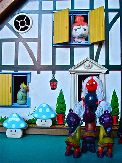 ''KNOCK KNOCK '' WENT THE GNOMES ... ''IS LITTLE MY HOME'' ? ... '' NO '' !!!! SAID THE WITCH | by Toypincher