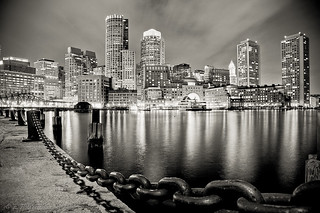 Boston Harbor at night | by Manu_H