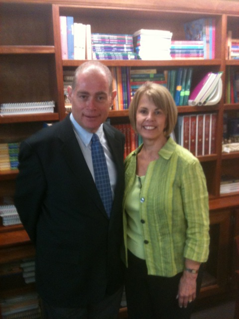 the new publisher paul campbell sj and president terry locke of