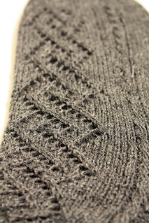 Lace and Cable Sock Pattern Detail | by Izznit