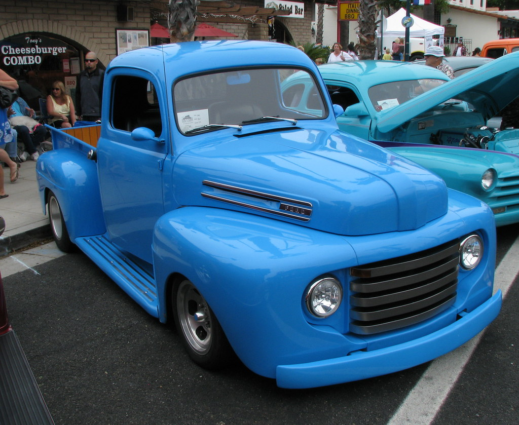 Beauty In Blue F 1 Style 1948 Ford Pickup Truck Flickr
