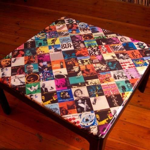 Decoupage coffee table bluenote a true jazz heads coffee for Inspirational decoupage coffee table