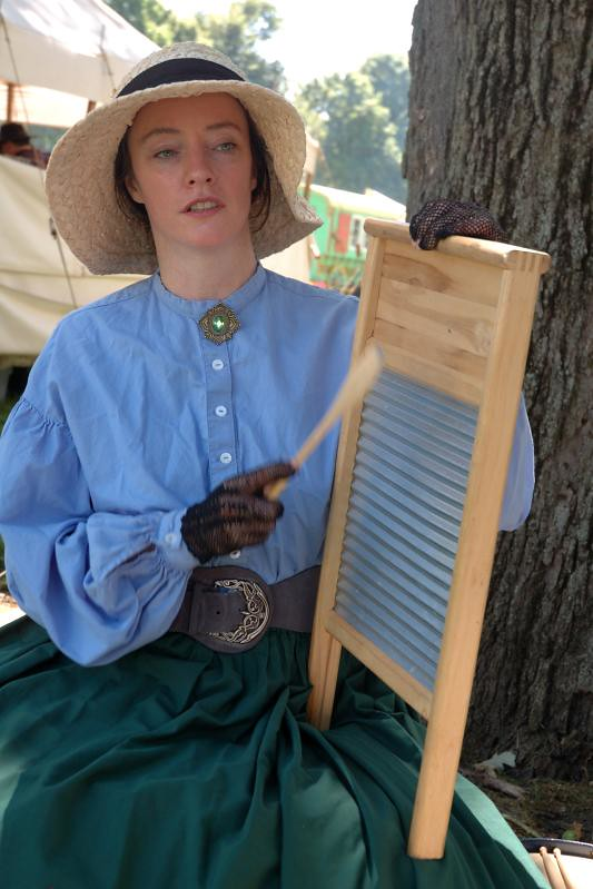playing the washboard with a spoon civil war days wauconda flickr. Black Bedroom Furniture Sets. Home Design Ideas