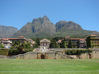 View of UCT upper campus from the rugby field | by barbourians