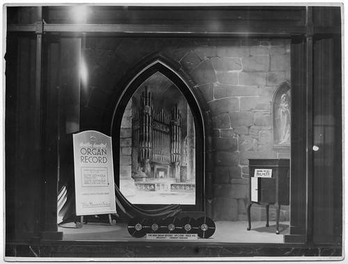 hmv 363 Oxford Street, London - Organ Record Window Display 1920s