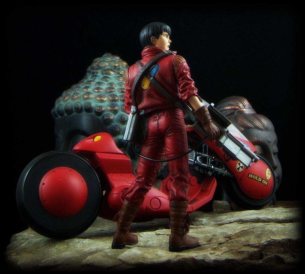 Mcfarlane 3d animation from japan kaneda and bike akira by ed speir