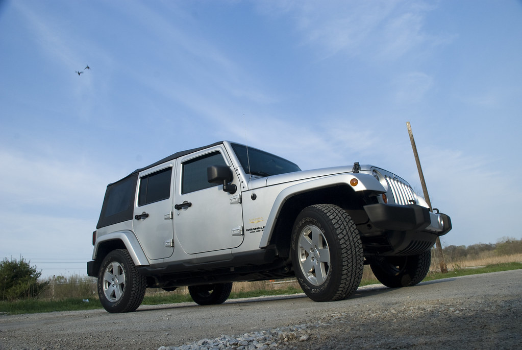 ... Silver 2008 4 Door Jeep Wrangler JK Sahara Unlimited | By JC Whitney