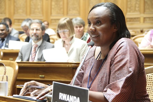 Rose Mukantabana: Speaker of the Chamber of Deputies, Rwanda | by Third World Conference of Speakers of Parliament